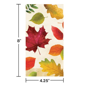 Harvest Thanksgiving Fall Colorful Leaves Paper Hand Towels Napkins – 16 Count