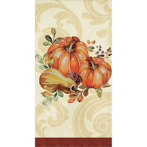 Harvest Thanksgiving Autumn Wreath Paper Hand Towels Napkins – 16 Count