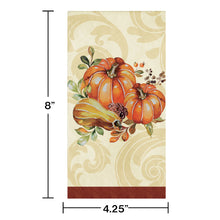 Load image into Gallery viewer, Harvest Thanksgiving Autumn Wreath Paper Hand Towels Napkins – 16 Count