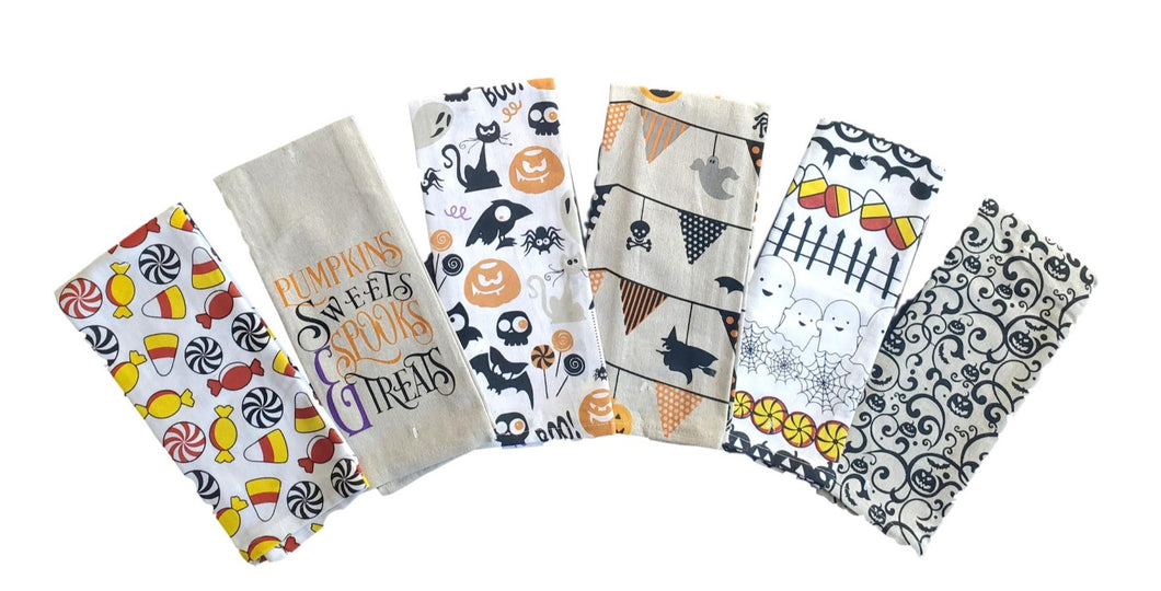 Halloween Printed Kitchen Towels – Set of 6