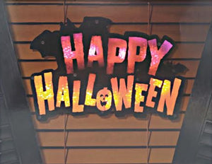 Lighted Happy Halloween Instant Décor Window Decoration