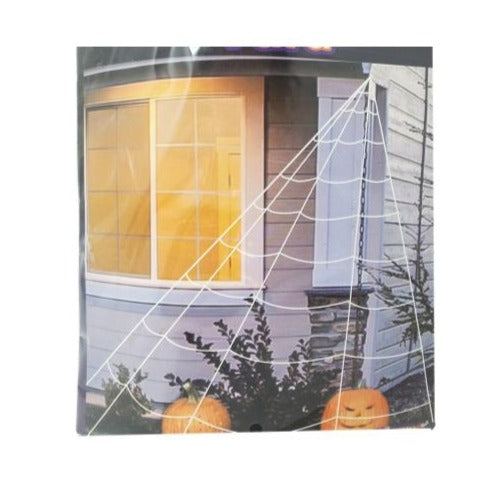 Halloween Large White Spider Web Décor – 23'X18'
