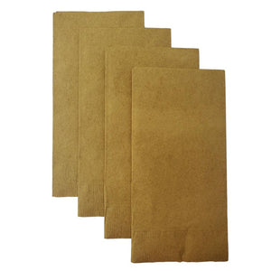 Gold Plain Solid Color Paper Disposable Dinner Guest Hand Towels Napkins