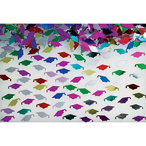 Grad Caps Multi-color Confetti – 0.5 oz