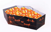 Load image into Gallery viewer, Halloween Paper Coffin Candy Serving Bowl