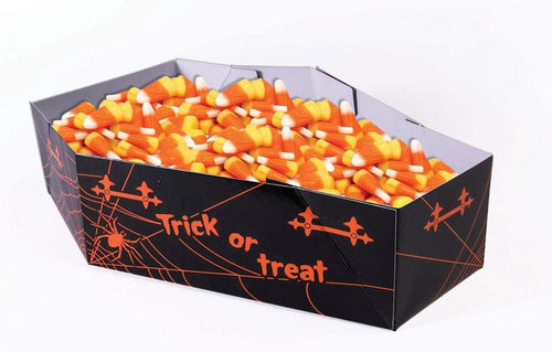 Halloween Paper Coffin Candy Serving Bowl