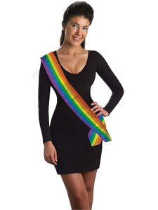Rainbow Satin Sash – 1 piece