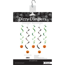 Load image into Gallery viewer, Pumpkin Faces Dizzy Danglers