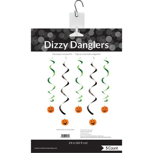 Pumpkin Faces Dizzy Danglers