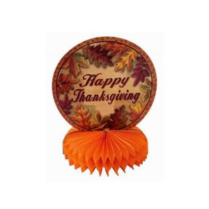 Thanksgiving Honeycomb Centerpiece and Plastic Table Cover Combo