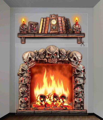 Halloween Haunted House Fireplace Wall Decoration