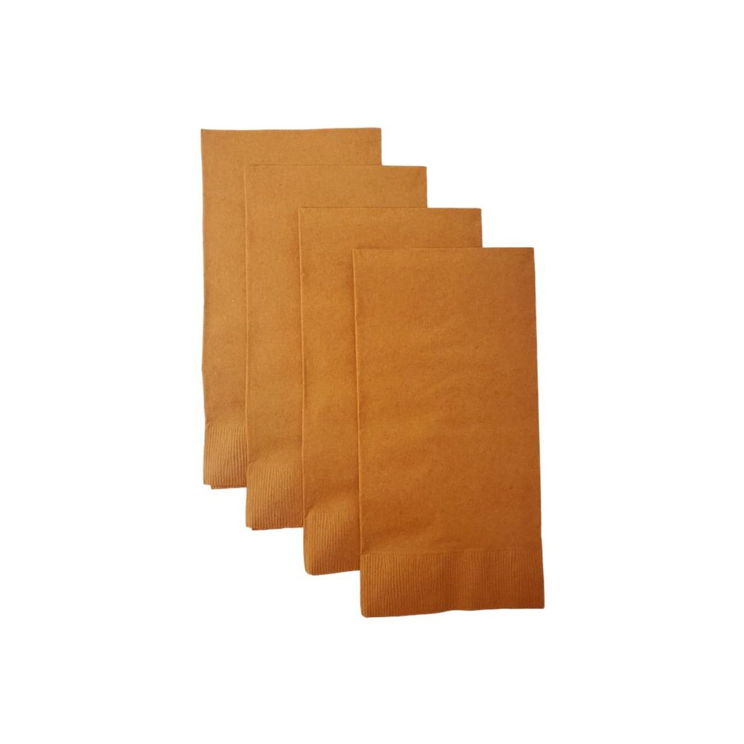 Pumpkin Spice Plain Solid Color Paper Disposable Dinner Guest Hand Towels Napkins