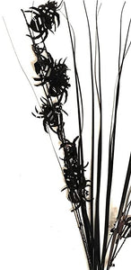 "Halloween Black Spider Widow 19"" Decorative Spray – Pack of 12"