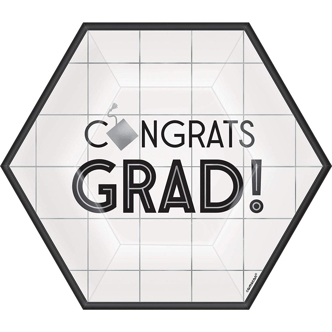Grid Graduation Dessert Plates – 18 Pack