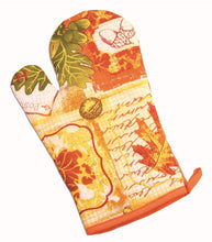 Load image into Gallery viewer, Harvest/Fall/Thanksgiving 3 Piece Set with Potholder, Oven Mitt and Kitchen Towel