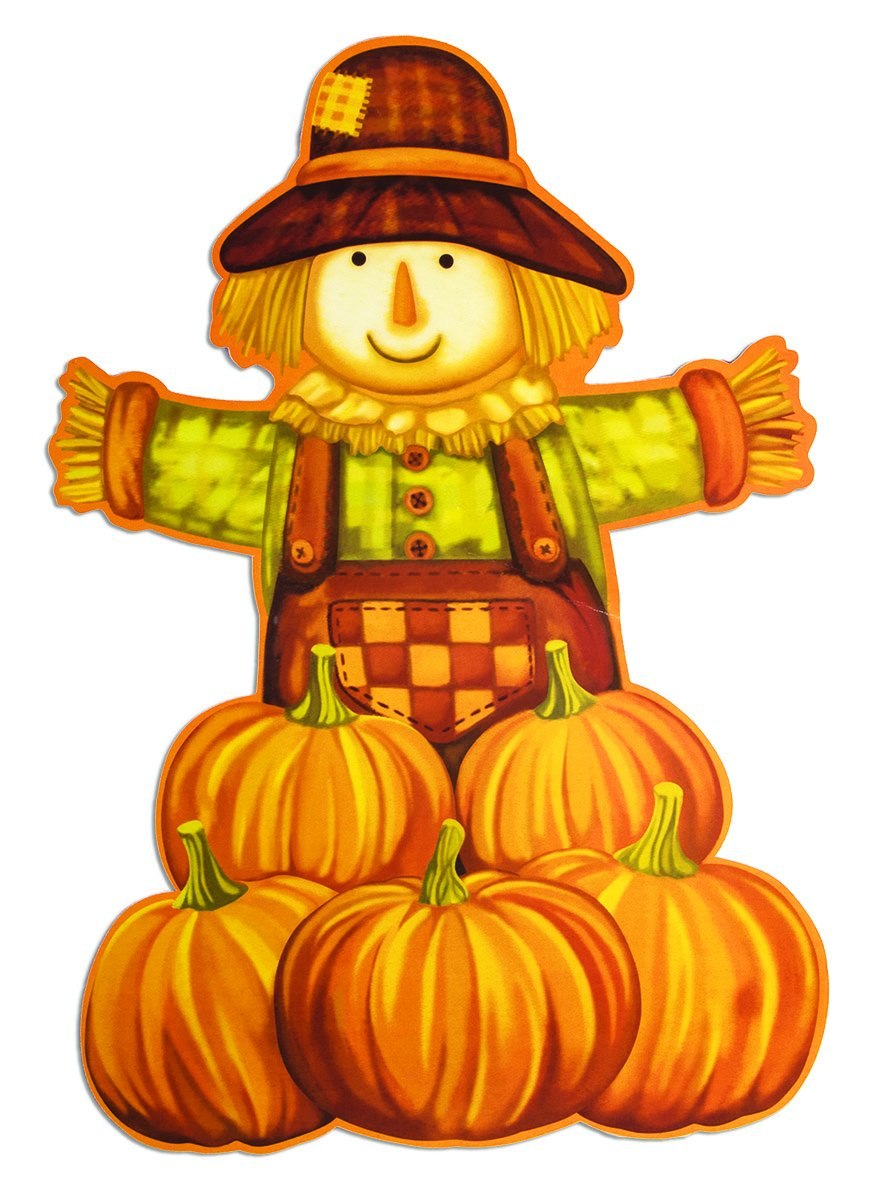 Harvest Time Scarecrow Cutout Set