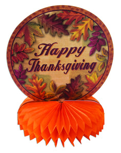 "Harvest Happy Thanksgiving 10"" Honeycomb Centerpiece - 1 Piece"