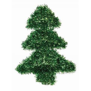 "Christmas Tree Holiday Party Tinsel 14"" x 11"" Decoration - 1 Piece"