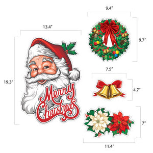 Christmas Printed Cardstock Cutouts Decoration
