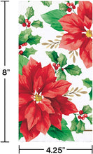 Load image into Gallery viewer, Christmas Red Poinsettia Paper Hand Towels Dinner Napkins – 16 Count