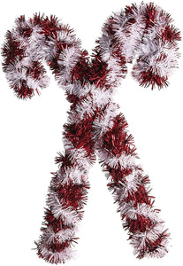 "Christmas Candy Cane Holiday Party Tinsel 14"" Decoration - 1 Piece"