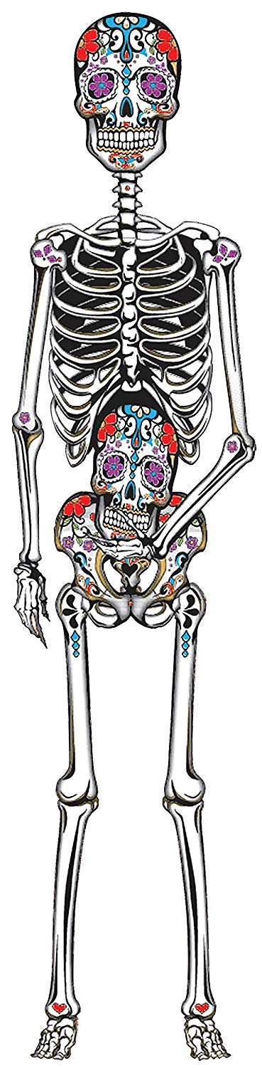 "Day of the Dead 60"" Jointed Cutout"