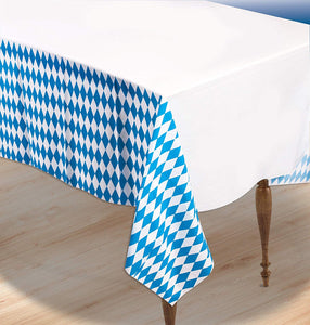 "Oktoberfest Plastic Table Cover 54"" x 108"" - 1 Piece"