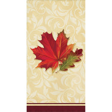 "Load image into Gallery viewer, Fall Leaves Hand Guest Towels, 8"" x 4"""