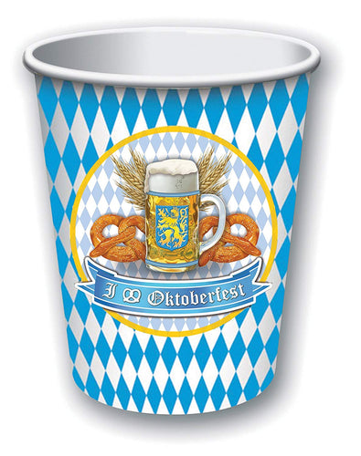 Oktoberfest Cups 9 oz - 8 Count