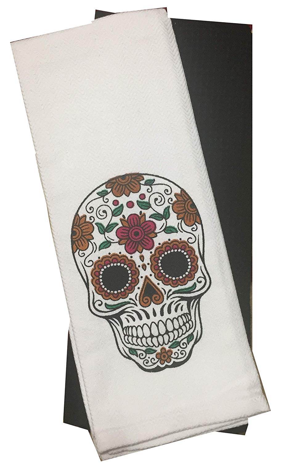 Day of the Dead Skull Halloween Design Kitchen Towels - 2 Pack 16 x 28 in