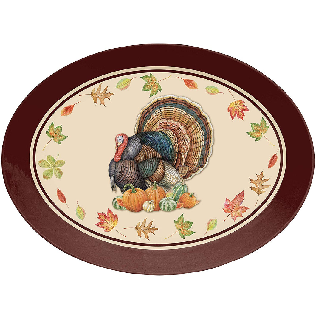Turkey Oval Plastic Tray, 10
