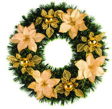 "Load image into Gallery viewer, Christmas Poinsettia 15"" Wreath - 1 Piece"