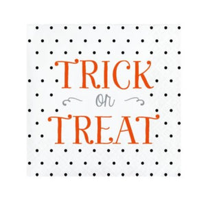 Halloween Trick or Treat Paper Beverage Cocktail Napkins – 16 Count