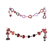 Load image into Gallery viewer, Valentine's Day Hanging Heart Garland 5 FT Multi-Color and Red