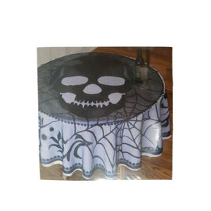 Halloween Skull Lace Round Table Cover