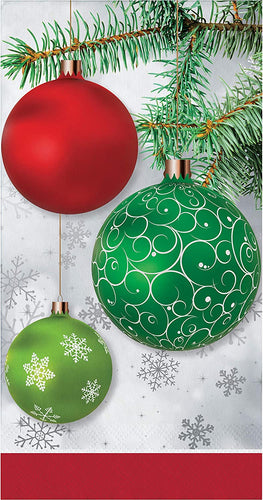 Christmas Upscale Ornaments Paper Hand Towels Dinner Napkins – 16 Count