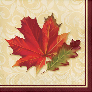 "Fall Leaves Luncheon Napkins, 6.5"" x 6.5"""