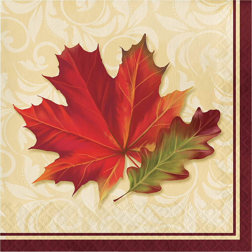 Fall Leaves Luncheon Napkins, 6.5