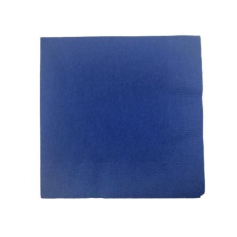 Royal Blue Plain Solid Color Paper Disposable Luncheon Napkins