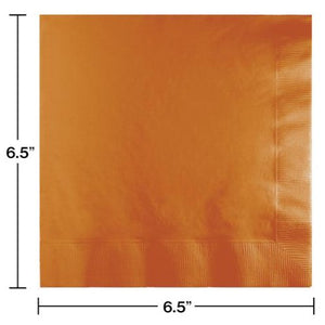 Pumpkin Spice Plain Solid Color Paper Disposable Luncheon Napkins