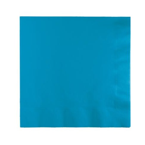 Turquoise Plain Solid Color Paper Disposable Luncheon Napkins