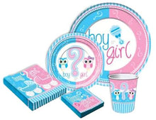 Load image into Gallery viewer, Gender Reveal 7-inch Dessert Paper Plates - 8 ct