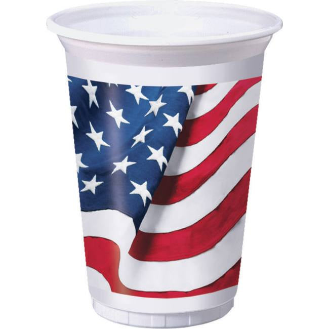 Patriotic Freedom's Flag 16oz Plastic Cups