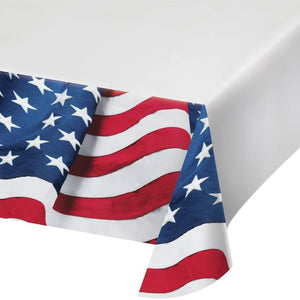 Patriotic Freedom's Flag Plastic Tablecloth