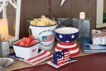 Load image into Gallery viewer, Americana Stars & Stripes Patriotic Platter