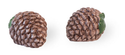 Pinecone Prose Ceramic Salt & Pepper Shaker Set