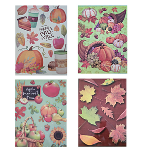 "Harvest Window Clings 12"" x 17"" – Set of 4"