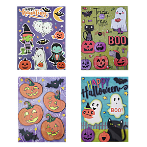 "Halloween Classic Window Clings 12"" x 17"" – 4 Piece"