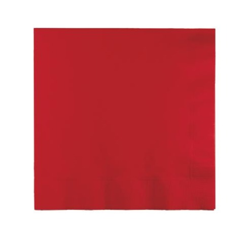 Red Plain Solid Color Paper Disposable Luncheon Napkins