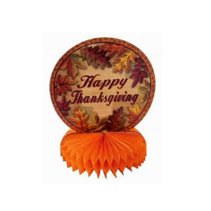 Harvest Happy Thanksgiving and Turkey Honeycomb Centerpieces
